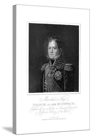 Michel Ney, French Soldier of the Napoleonic Wars, 1817--Stretched Canvas Print