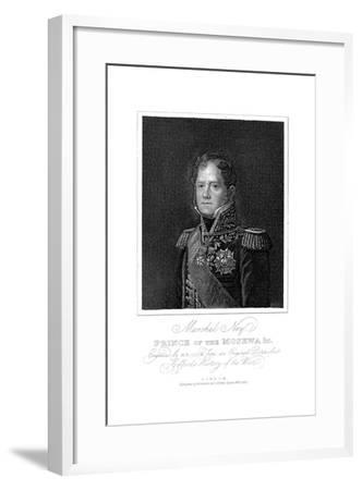 Michel Ney, French Soldier of the Napoleonic Wars, 1817--Framed Giclee Print