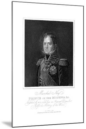 Michel Ney, French Soldier of the Napoleonic Wars, 1817--Mounted Giclee Print