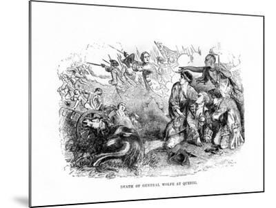 The Death of General Wolfe at Quebec, 1759--Mounted Giclee Print