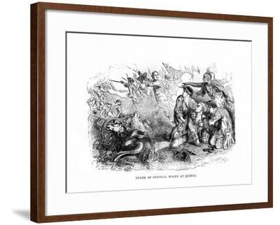 The Death of General Wolfe at Quebec, 1759--Framed Giclee Print