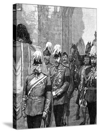 Funeral of the Duke of Albany: the Procession Entering Windsor Castle, 1884--Stretched Canvas Print