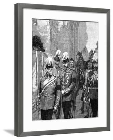 Funeral of the Duke of Albany: the Procession Entering Windsor Castle, 1884--Framed Giclee Print