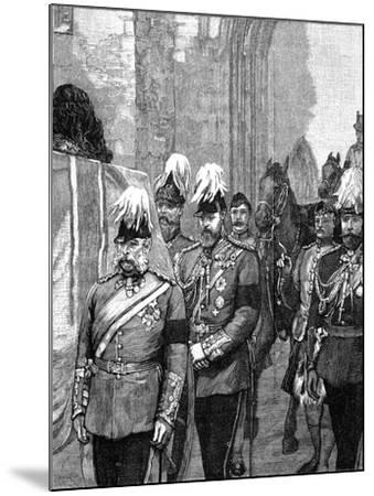 Funeral of the Duke of Albany: the Procession Entering Windsor Castle, 1884--Mounted Giclee Print