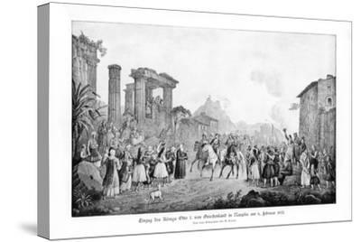 Otto I, King of Greece, Landing in Nauplia, 6 February 1833-G Kraus-Stretched Canvas Print