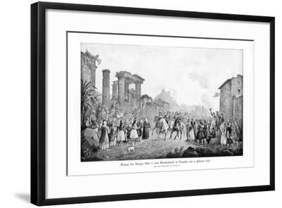 Otto I, King of Greece, Landing in Nauplia, 6 February 1833-G Kraus-Framed Giclee Print
