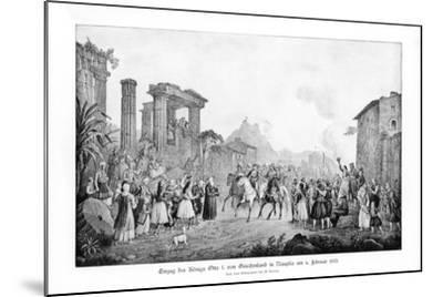 Otto I, King of Greece, Landing in Nauplia, 6 February 1833-G Kraus-Mounted Giclee Print