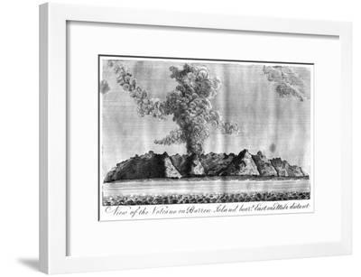View of the Volcano on Barren Island, Andaman Islands, 1799--Framed Giclee Print