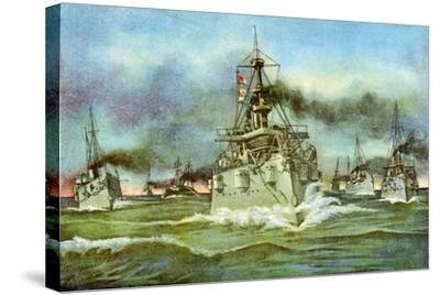 The Flying Squadron, Spanish-American War, 1898--Stretched Canvas Print