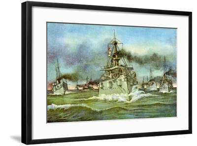 The Flying Squadron, Spanish-American War, 1898--Framed Giclee Print