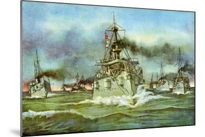 The Flying Squadron, Spanish-American War, 1898--Mounted Giclee Print