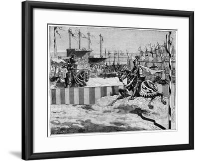 Tournament for the Coronation of Louis II D'Anjou, Near Calais, C1389 (1882-188)--Framed Giclee Print
