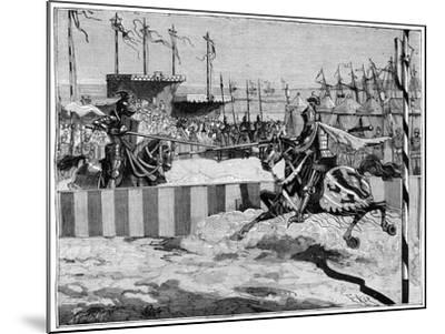 Tournament for the Coronation of Louis II D'Anjou, Near Calais, C1389 (1882-188)--Mounted Giclee Print