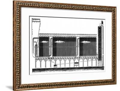 Sectional View of Lead Chambers for Large-Scale Production of Sulphuric Acid, 1870--Framed Giclee Print