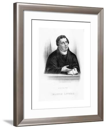 Martin Luther, German Theologian, Augustinian Monk, and Ecclesiastical Reformer--Framed Giclee Print