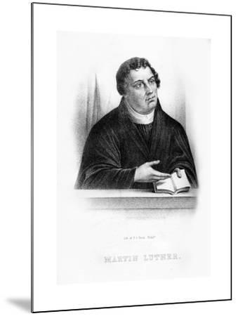 Martin Luther, German Theologian, Augustinian Monk, and Ecclesiastical Reformer--Mounted Giclee Print
