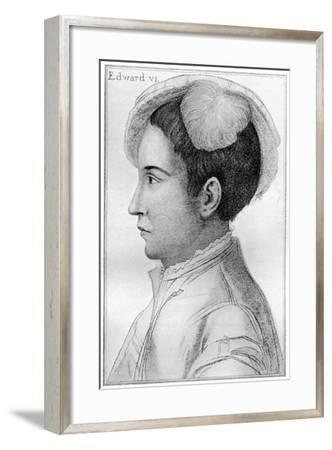 Edward VI, 16th Century-Hans Holbein the Younger-Framed Giclee Print