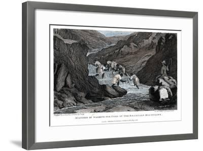 Manner of Washing for Gold in the Brazilian Mountains, 1814- Lester-Framed Giclee Print