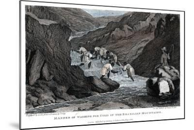 Manner of Washing for Gold in the Brazilian Mountains, 1814- Lester-Mounted Giclee Print