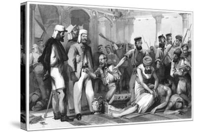 The Times Correspondent Looking on at the Sacking of the Kaiser Bagh, 1858--Stretched Canvas Print