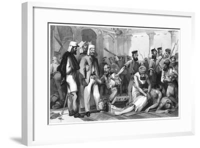 The Times Correspondent Looking on at the Sacking of the Kaiser Bagh, 1858--Framed Giclee Print