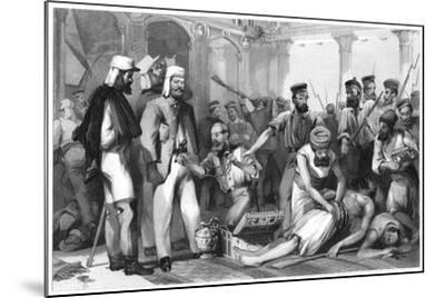 The Times Correspondent Looking on at the Sacking of the Kaiser Bagh, 1858--Mounted Giclee Print