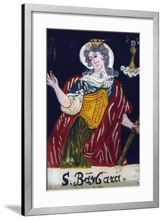 St Barbara, Christian Virgin Martyr, 19th Century--Framed Giclee Print