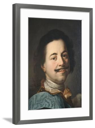 Portrait of Peter the Great, First Half of 19th Century--Framed Giclee Print
