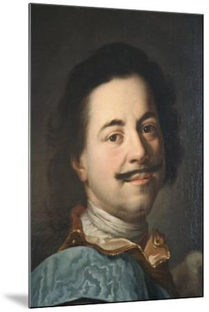 Portrait of Peter the Great, First Half of 19th Century--Mounted Giclee Print