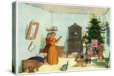 Christmas Scene from King Nutcracker by Heinrich Hoffmann, 1853--Stretched Canvas Print