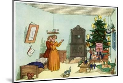 Christmas Scene from King Nutcracker by Heinrich Hoffmann, 1853--Mounted Giclee Print