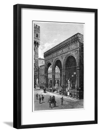 Loggia Del Lanzi, Piazza Della Signoria, Florence, Italy, 1882--Framed Giclee Print
