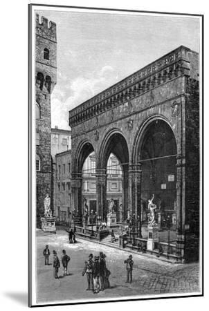 Loggia Del Lanzi, Piazza Della Signoria, Florence, Italy, 1882--Mounted Giclee Print