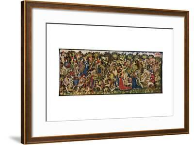 The Chatsworth Hunting Tapestries, Second of the Series, 1930-WG Thomas-Framed Giclee Print