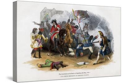 The Carabiniers at the Battle of Ramillies, 23rd May 1706--Stretched Canvas Print