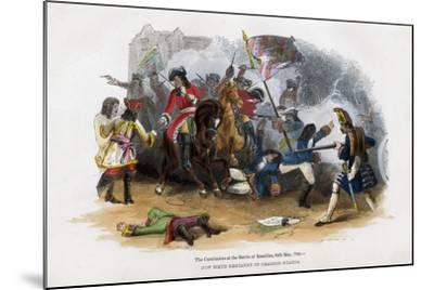 The Carabiniers at the Battle of Ramillies, 23rd May 1706--Mounted Giclee Print