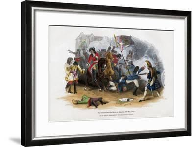 The Carabiniers at the Battle of Ramillies, 23rd May 1706--Framed Giclee Print