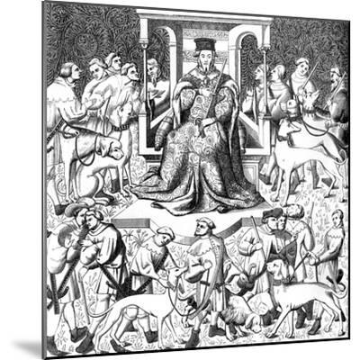 Gaston Phoebus Teaching the Art of Venery, 15th Century--Mounted Giclee Print