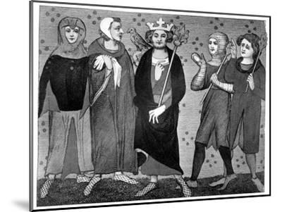 King and Court, Late 13th-14th Century--Mounted Giclee Print
