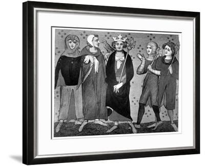 King and Court, Late 13th-14th Century--Framed Giclee Print