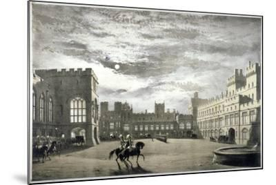 Moonlit View of the Upper Ward of Windsor Castle, Berkshire, C1844--Mounted Giclee Print
