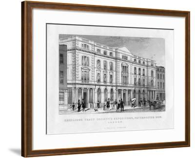 Religious Tract Society's Repository, Paternoster Row, London, 19th Century--Framed Giclee Print