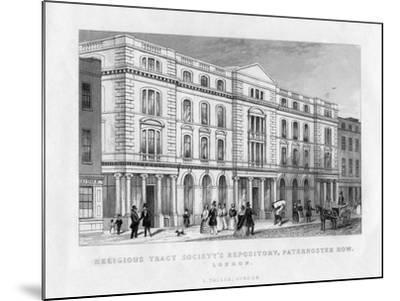 Religious Tract Society's Repository, Paternoster Row, London, 19th Century--Mounted Giclee Print