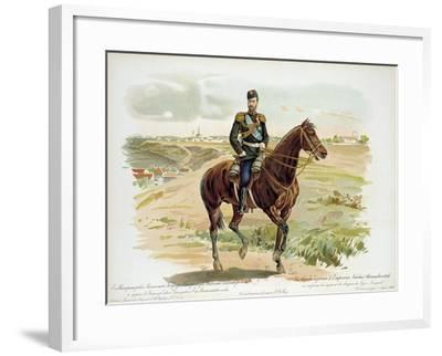 Tsar Nicholas II of Russia in the Uniform of the Nizhny Novgorod Dragoon Regiment, 1896--Framed Giclee Print