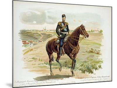 Tsar Nicholas II of Russia in the Uniform of the Nizhny Novgorod Dragoon Regiment, 1896--Mounted Giclee Print