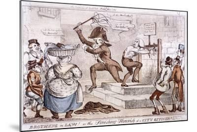 Brothers in Law! or the Finishing Flourish of a City Officer!!, 1827--Mounted Giclee Print