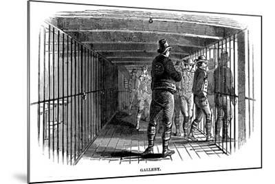 On Board a Prison Hulk, 1848--Mounted Giclee Print