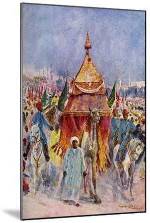 The Procession of the Mahmal, Cairo, Egypt--Mounted Giclee Print