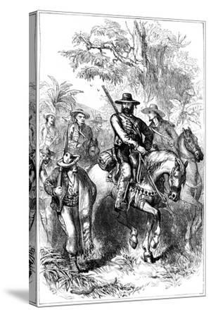 Mexican Filibusters on the March, Mid 19th Century--Stretched Canvas Print