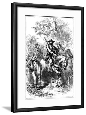 Mexican Filibusters on the March, Mid 19th Century--Framed Giclee Print